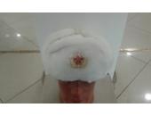 Шапка-ушанка белая В08