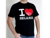 "Футболка "" I love Belarus"" 7Ж02"