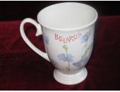 Кружка BELARUS  с цветками льна 11A18